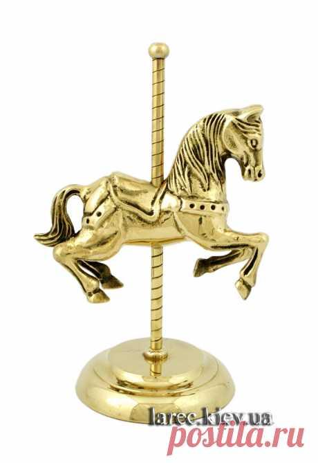 Купить статуэтку винтажная карусельная лошадка из латуни Украина | Интернет-магазин подарков Ларец