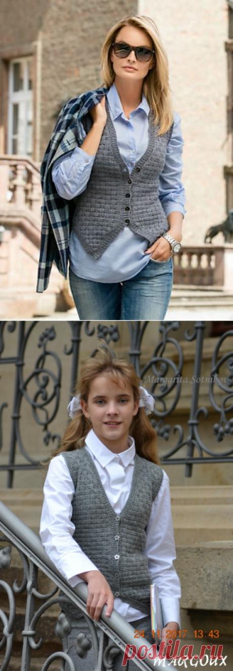 . Школьный ретро-жилет Ernestine для девочки-подростка. Margoux - Вязание - Страна Мам