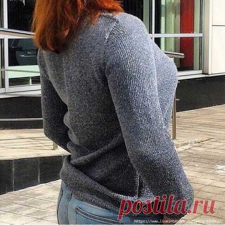 Imitation of a set-in sleeve.