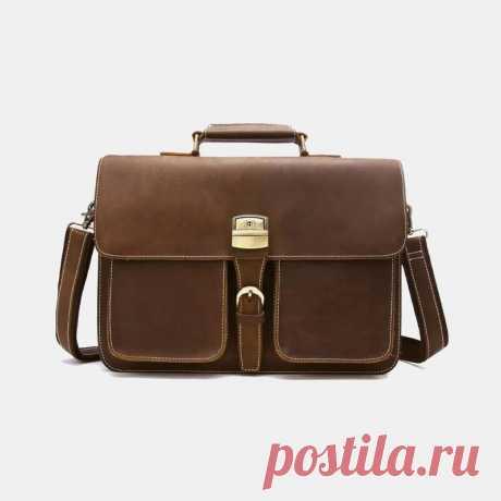 Men Multifunction 14 Inch Laptop Briefcase Business Handbag Crossbody Bag - US$68.99