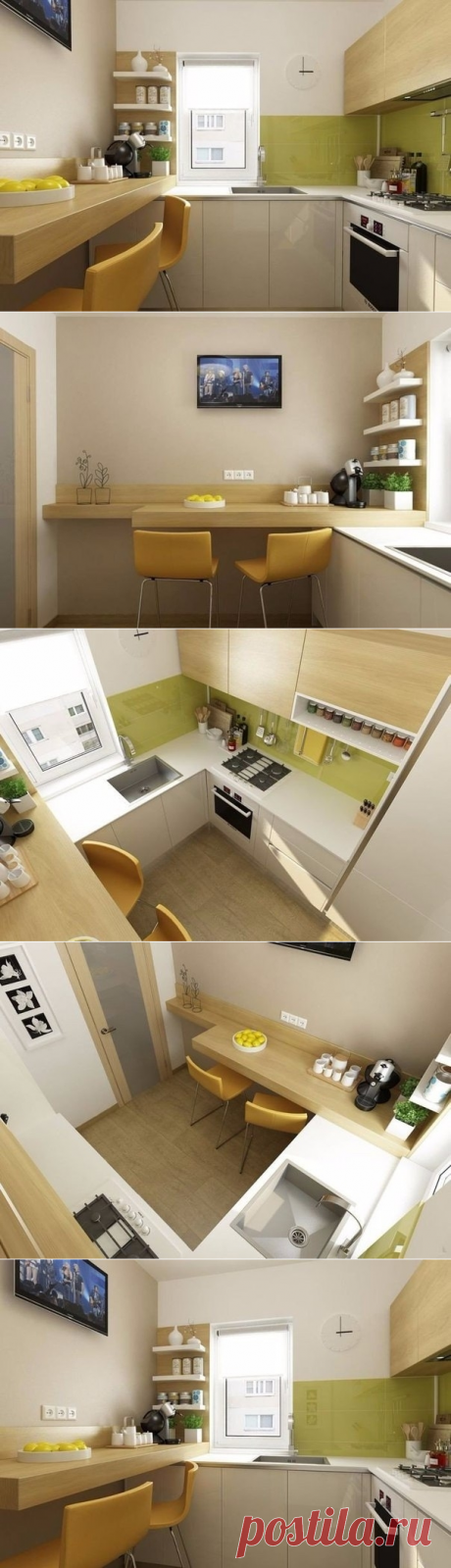 How to register small kitchen: 6 square meters in Bucharest - Interior design | Ideas of your house | Lodgers
