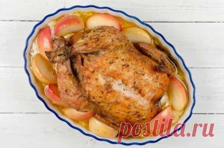 Курица с яблоками в сливочном соусе — Sloosh – кулинарные рецепты