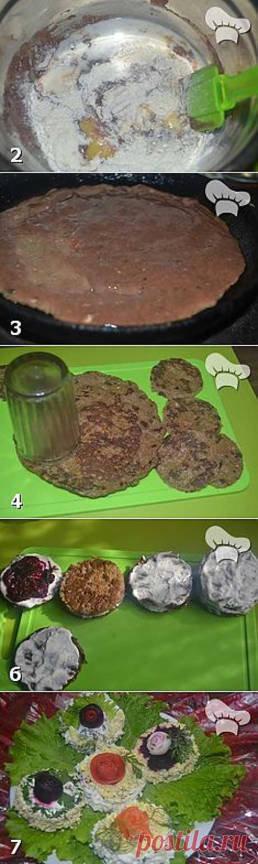 Закусочные пирожные из печени
