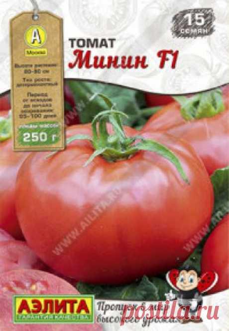 """Семена. Томат раннеспелый """"Минин F1"""", округлый, красный (15 штук) Всхожесть: 96%. Современный биф-томат с высочайшим качеством плодов. Мясистый, с мякотью однородного цвета; с классическим вкусом, оптимально сбалансированным по сладости/кислинке. Гибрид вступает в плодоношение в ранние сроки, через 95-100 дней от всходов. Формирует детерминантные..."""