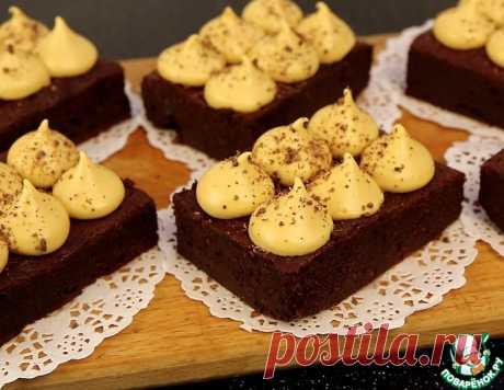 Брауни со взбитой карамелью – кулинарный рецепт