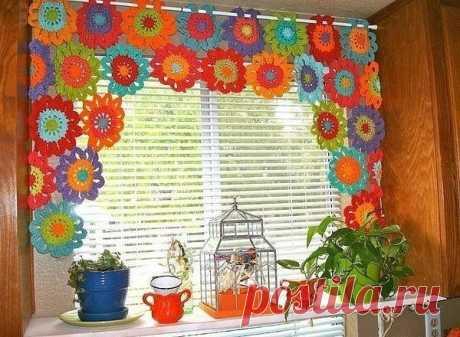 Bright curtain on kitchen. — Make itself, ideas for creativity - DIY Ideas