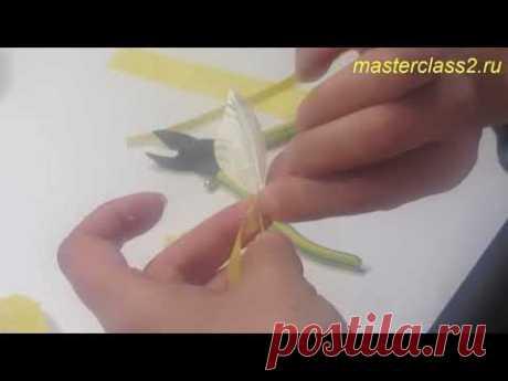 Роза из шелка. Часть 7. Цветы из ткани мастер-класс
