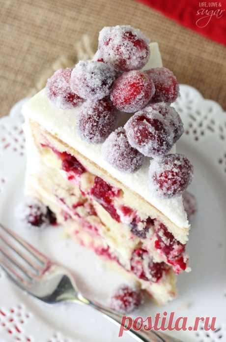 """Клюквенный торт """"Зимняя сказка"""""""