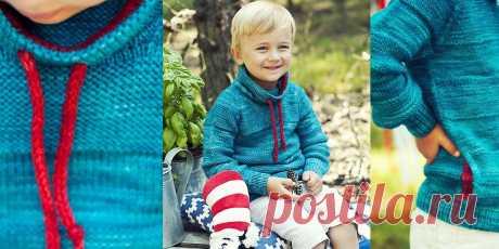 Детский свитер Thingamajigger спицами - Вяжи.ру