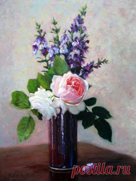 Немного о цветах... Художница Робин Люсиль Андерсон (Robin Lucile Anderson).