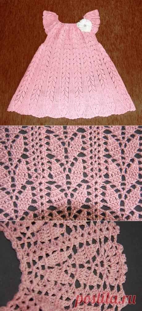 Красивое платье крючком для девочки 1,5 – 2 лет | Поделки, рукоделки, рецепты | Яндекс Дзен
