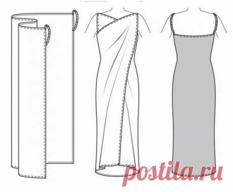 Как сшить простое платье? Схемы простейших платьев без выкроек: прямого, вечернего, длинного