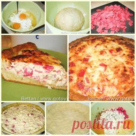Пицца-пай (закусочный открытый пирог)