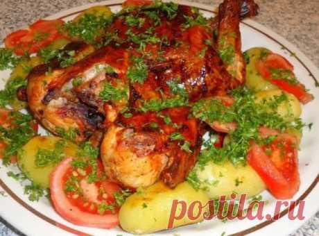 Курица с картошкой в духовке: очень вкусный рецепт с фото