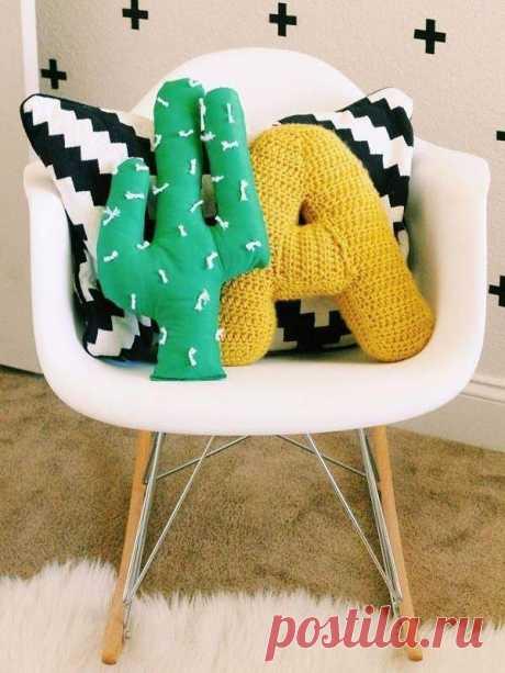Декоративные подушки своими руками🛋