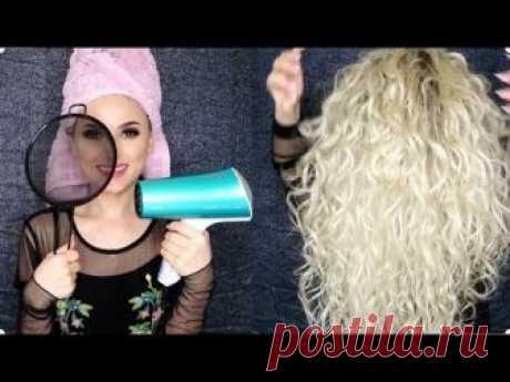 La muchacha ha tomado el escurridor y ha comenzado a secar los cabellos. ¡El resultado increíble! ¡Mirar con todo! — Kopilochka de los consejos útiles