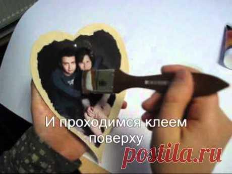 Валентинка с фотографией любимой от SanginaRu