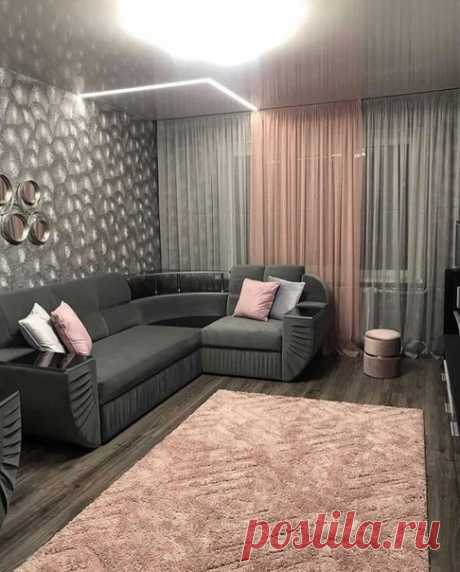 Ремонт в гостиной сделанный на свой вкус, без всяких дизайнеров.