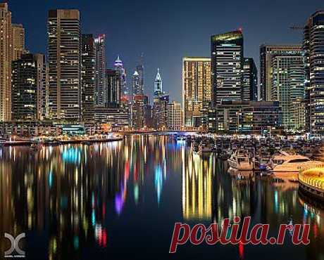 Вечер в Dubai Marina