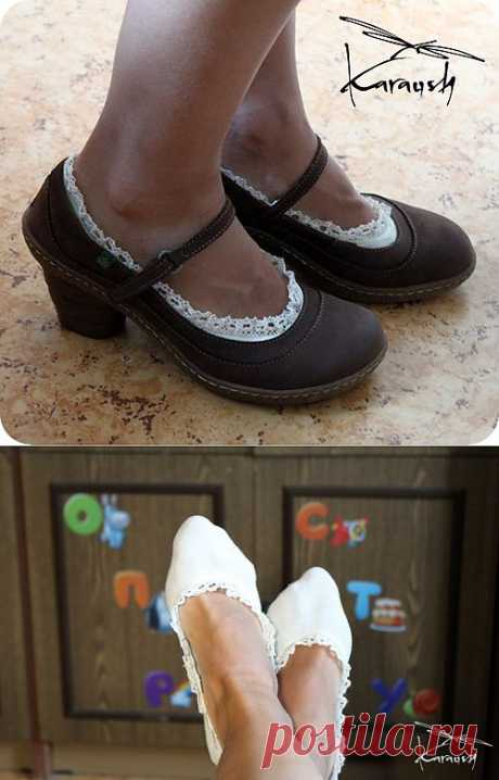 Носочки в стиле бохо (DIY) / Носки, колготки, леггинсы / Модный сайт о стильной переделке одежды и интерьера