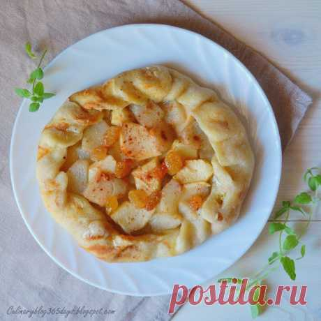 Кулинарный блог 365 дней: Галета с яблоками и грушей