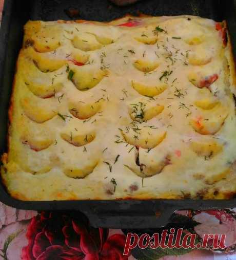 Запеканка картофельная с фаршем и помидорами Автор рецепта Милена Ковалёва - Cookpad