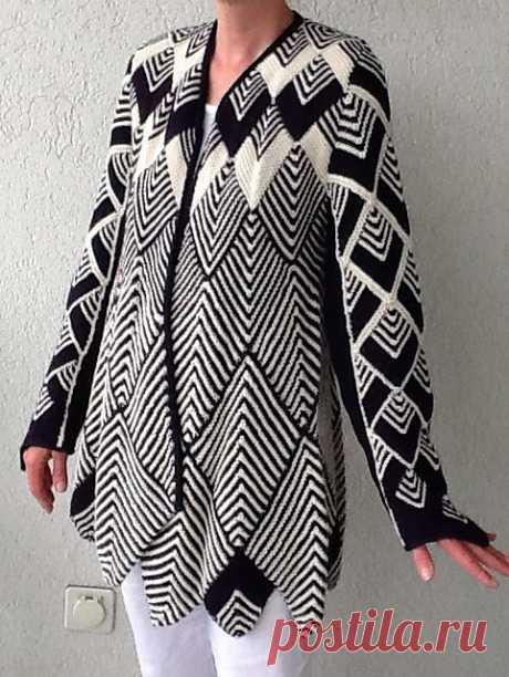 Модели вязаной одежды в технике пэчворк спицами - Modnoe Vyazanie ru.com