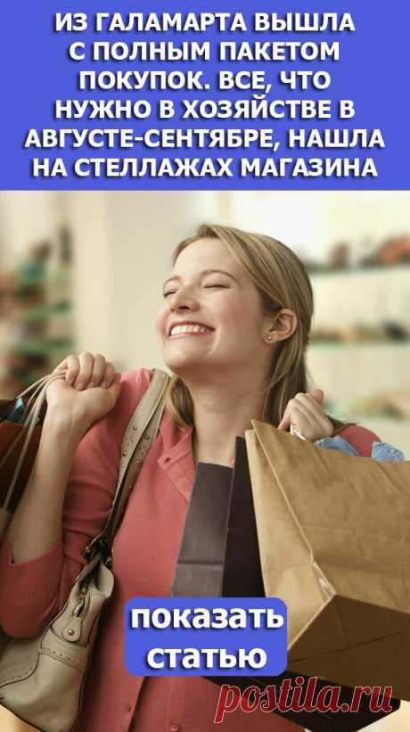 СМОТРИТЕ: Из Галамарта вышла с полным пакетом покупок. Все, что нужно в хозяйстве в августе-сентябре, нашла на стеллажах магазина
