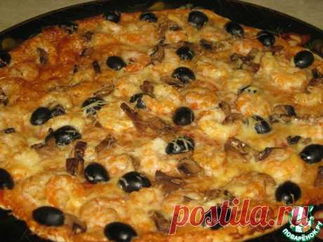 Тонкое тесто и соус для итальянской пиццы Кулинарный рецепт