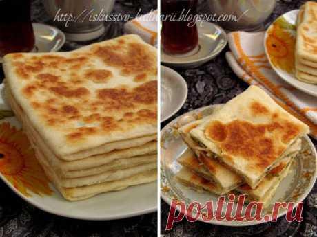Постигая искусство кулинарии... : Гёзлеме с сыром (Peynirli gözleme)