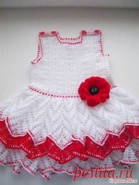 """Платье с маками из сообщества """"Страна Мам"""""""