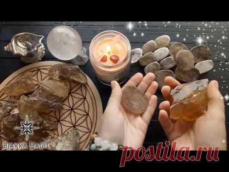 Ритуал Объятия Вселенной: избавляемся от тревоги и стресса с дымчатым кварцем и цитрином.