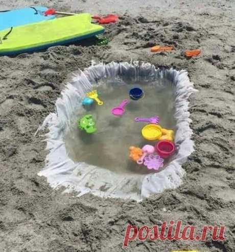 Мешок для мусора=пляжный бассейн