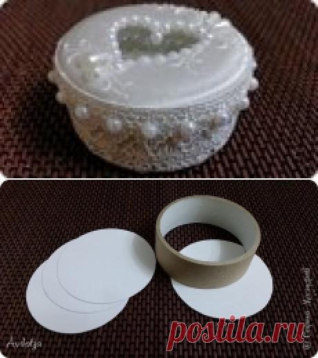 Создаем шкатулку для колец из бобины от скотча | Страна Мастеров