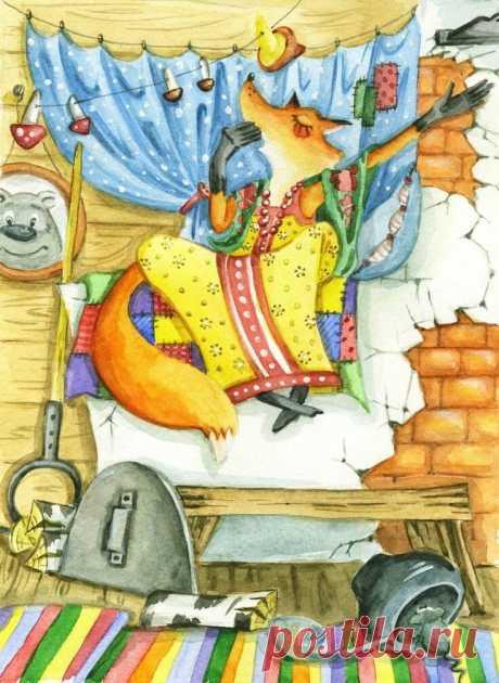Завистливая лисица – басня Олеси Емельяновой про недовольную жену | Олеся Емельянова: сказки, басни, пьесы, сценки, стихи, песни и настольные игры для детей | Яндекс Дзен