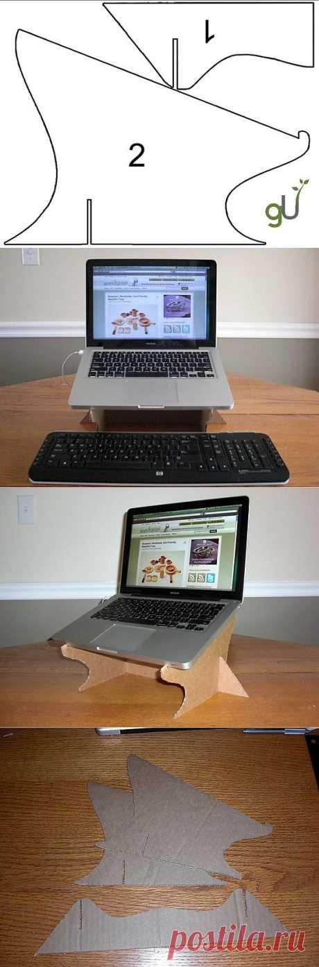 Как сделать подставку под ноутбук для охлаждения своими руками.