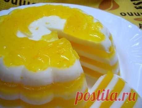 """Лучшие кулинарные рецепты: Десерт """"Апельсиновое чудо"""""""