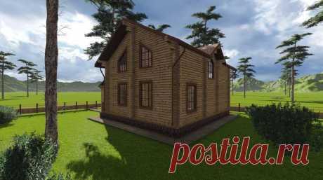 Дом из бруса - проект ДД 156-230 под ключ площадью 156 кв/м купить недорого по лучшей цене в Новосибирске