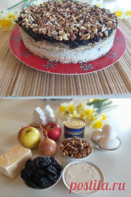 Салат «Черепашка» - тот случай, когда салат, как праздничный торт