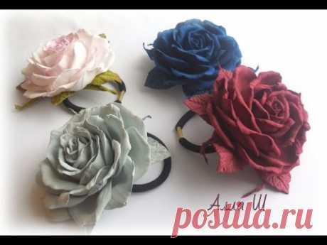 МК Розы из фоамирана на резинке, простой способ МК.DIY FOAM FLOWERS