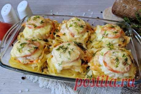 «Гнезда» из макарон с фаршем, помидорами и сыром: самый вкусный ужин на скорую руку ❤️ | Еда на каждый день | Яндекс Дзен