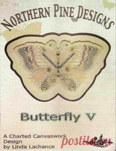 Northern Pine Design - Бабочка с V-образным стежком Связь / Загрузка (Не могу опубликовать только в новой теме) -Сканированные схемы для вышивки крестом-PinDIY.com