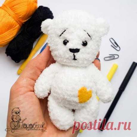 Плюшевый мишка крючком. Бесплатный мастер-класс по вязанию мишки от Любови Пономаренко. Схемы и описания вязания амигуруми: плюшевые мишки, зайки, котики, тигры, лисы. МК для начинающих