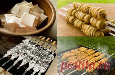 Шашлык из картофеля с салом на углях — неописуемое наслаждение!