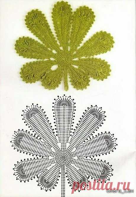 Вязаные цветочные элементы (подборка) / Вязание / ВТОРАЯ УЛИЦА