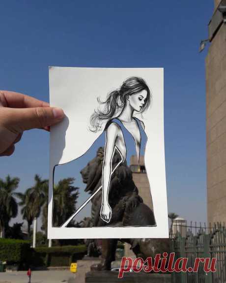 Модная иллюстрация и фактурная архитектура в рисунках Шамека Аль Блуви