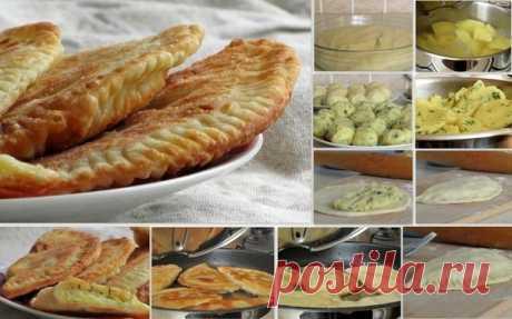 Как приготовить чебуреки с картофелем и сыром - рецепт, ингредиенты и фотографии