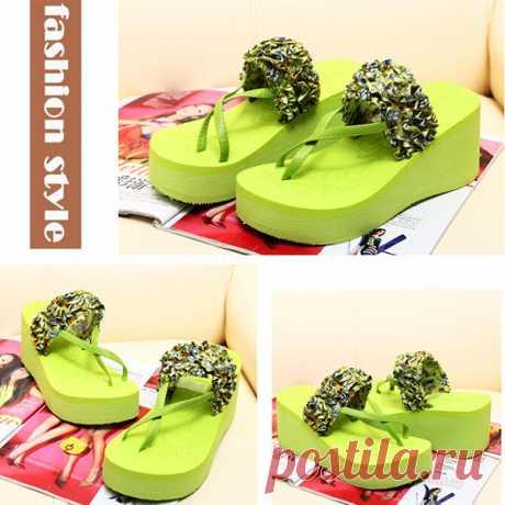 New Summer Women Wedge Platform Sandal Flip-Flops Shoes Beach Slippers Shoes - US$9.42