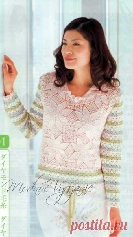 Gentle jacket from the Chinese magazine - Fashionable knitting