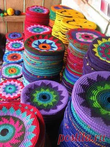 (491) Otomiartesanal Mayan Morral (Mochila bag)